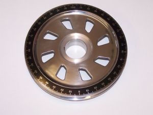Crank shaft pulley with Saw blade holes, Aluminium, VW Beetle and Type 2